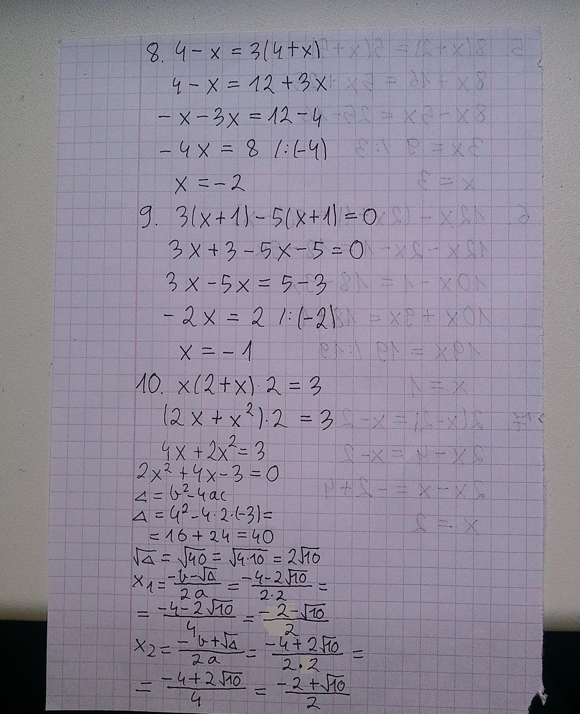 Rozwi R Wnania 1 X 5 10